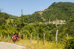Passo del Cirone (Tuscany - Emilia) - by bicycle Royalty Free Stock Image