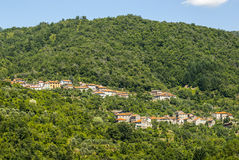 Passo del Cirone (Tuscany - Emilia) - Forest and villages Stock Photography