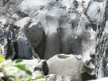 Passo del tempo sulla roccia fotografia stock