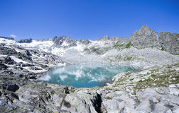 Passo del Tonale, Alpine lake Monticello in Lombardy, Italy Royalty Free Stock Photo