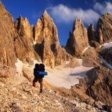 Passo delle farangole - bleek Di San Martino - dolomiti Royalty-vrije Stock Foto's