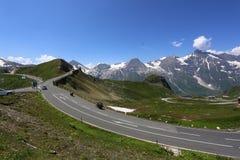 Passo di montagna di alta strada alpina di Grossglockner Fotografia Stock Libera da Diritti
