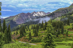 Passo di montagna rosso, Colorado fotografie stock