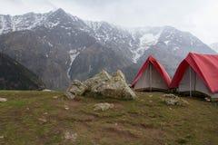 Passo di montagna Triund Incontrando l'Himalaya Immagine Stock Libera da Diritti