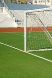 Passo do futebol de um campo de futebol imagem de stock royalty free