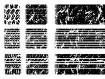 Passo do pneu de Grunge com marca de patim Imagens de Stock