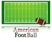 Passo e esfera de futebol americano Imagens de Stock Royalty Free