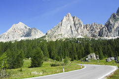Passo Falzarego, Dolomites Stock Photo