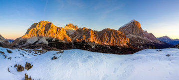 Passo Falzarego, dolomites, Italie Images stock