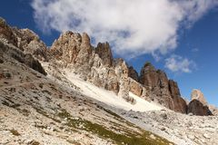 Passo Falzarego, Dolomites Royalty Free Stock Photos