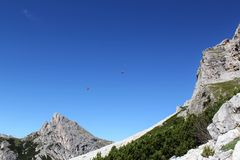 Passo Falzarego, Dolomites Royalty Free Stock Photo