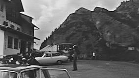 Passo Falzarego Dolomiti stock footage