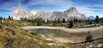 Passo Falzarego in Italy dolomites mountain Royalty Free Stock Photos