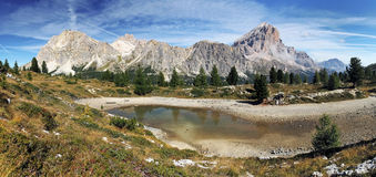 Passo Falzarego in Italy dolomites mountain Royalty Free Stock Image