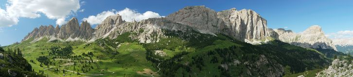 Passo Gardena Royalty Free Stock Photo