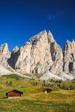 Passo Gardena, Dolomiet stock afbeeldingen