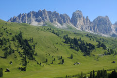 Passo Gardena, Dolomites Royalty Free Stock Photo