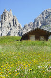 Passo Gardena, Dolomites Stock Photo