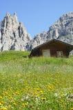Passo Gardena, Dolomites Stock Photo