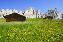 Passo Gardena, Dolomites Stock Image