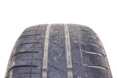 Passo gastado do pneu de carro Imagem de Stock Royalty Free