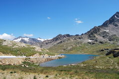 Passo gavia lago bianco. Il Lago bianco after the Gavia Pass Stock Photos