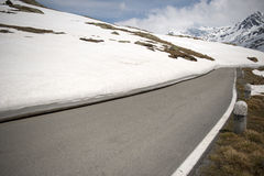 Passo Gavia, 2621m, is a high mountain pass in the Italian Alps Stock Image