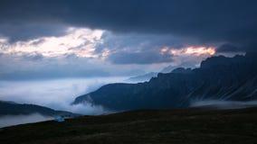 Passo Giau,白云岩 免版税库存图片