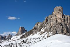 Passo Giau Stock Photo