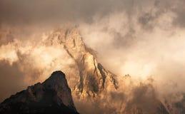 Passo Giau, Dolomiet stock afbeelding