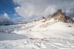 Passo Giau - Dolomites - Italien royaltyfria bilder