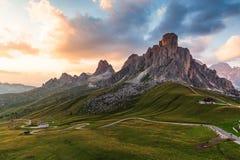 Passo Giau, dolomites Italy fotografia de stock