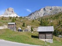 Passo Giau. Dolomites mountains in nord Italy - pass Giau Royalty Free Stock Image