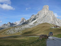 Passo Giau. Road from the Passo Giau in Dolomites Stock Image