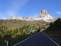 Passo Giau. Road to the Passo Giau in Dolomites Royalty Free Stock Photos