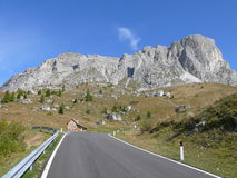Passo Giau. Road to the Passo Giau in Dolomites Royalty Free Stock Photography