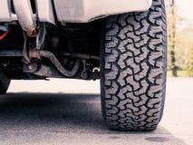 Passo Offroad do pneu do Lama-terreno Imagem de Stock