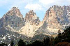 Passo Pordoi. Sella mountain group - Dolomiti in Italy stock image