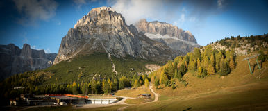Passo Pordoi in den Dolomit (Alpen), Italien Stockfotos