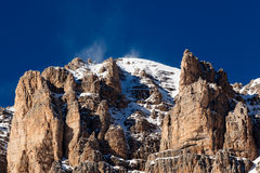 Passo Pordoi Peak near Ski Resort of Canazei Stock Images