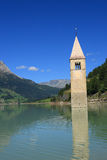 Passo Resia - Curon Bell Tower Royalty Free Stock Images