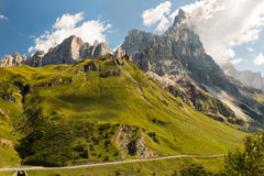 Passo Rolle, dolomites, Alpes, Italie Photos stock