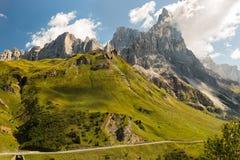 Passo Rolle, dolomites, cumes, Itália Fotos de Stock