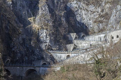 Passo San Boldo. Is a small mountain pass in the Italian region Veneto Royalty Free Stock Images