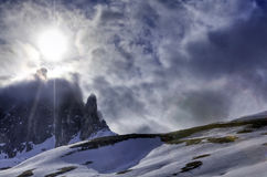 Passo Sella Stock Photo