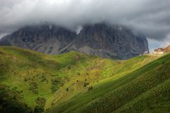 Passo Sella - Dolomites, Italy. The Passo Sella is situated in Trentino Alto Adige Stock Images