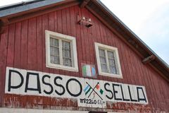 Passo Sella Royalty Free Stock Images