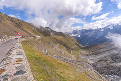 Passo Stelvio Royalty Free Stock Photography