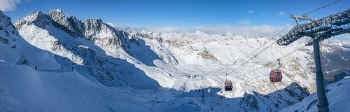 Passo Tonale ski area Stock Photography