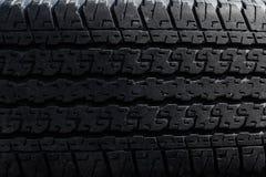 Passo velho do pneu como o fundo Foto de Stock Royalty Free